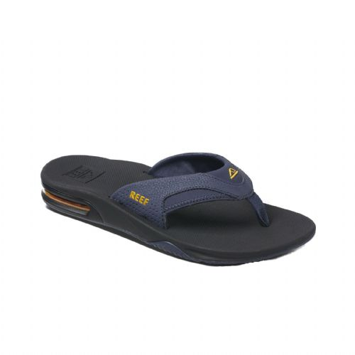 REEF MENS FLIP FLOPS.NEW FANNING NAVY ARCH SUPPORT THONGS SANDALS SHOES 9S 6 NAY